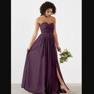 Evening Bridemaid Gown Dress Plum Size 8